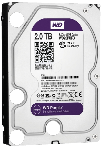HARD DISK 2TB WD Purple Surveillance-big