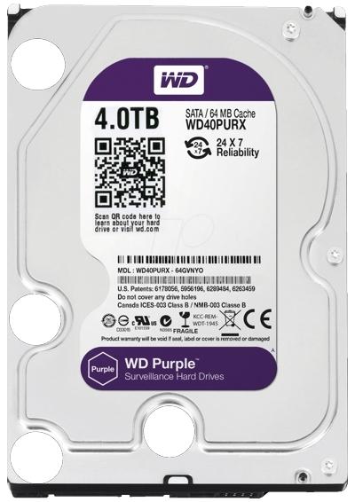 HARD DISK 4TB  WD Purple Surveillance-big