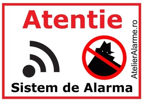 Semn avertizare sistem alarma-big