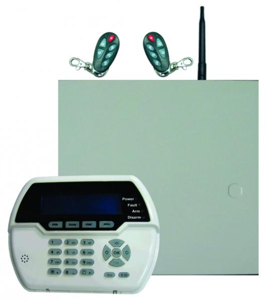 Sistem alarma hybrid (wireless+cablat) FORTEZZA PRO GSM COM8832-big