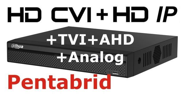 DVR Full HD pentabrid 8+4 camere HD+IP DAHUA XVR5108HS-big