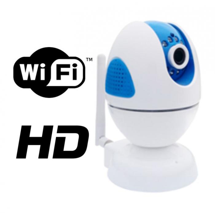 Camera rotativa IP 1 Megapixeli WiFi FORTEZZA IPC-M10i-big