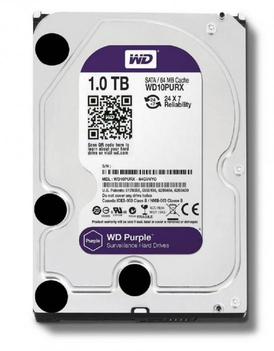 HARD DISK 1TB  WD Purple Surveillance-big