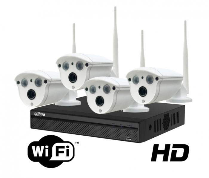 Kit wireless DAHUA IP HD 2 Megapixeli supraveghere exterior Pro ve04IP2m_A-big