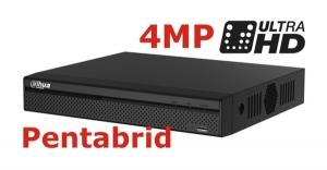 DVR 4MP pentabrid 4+2 camere HD+IP DAHUA XVR5104HS-4M